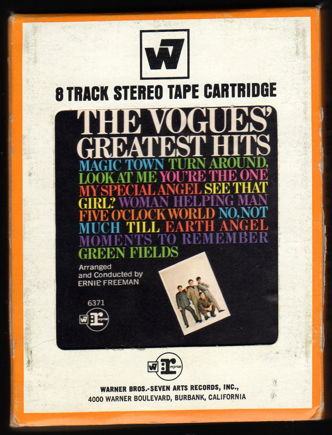 The Vogues - The Vogues Greatest Hits 1969 WB REPRISE A23 8-TRACK TAPE