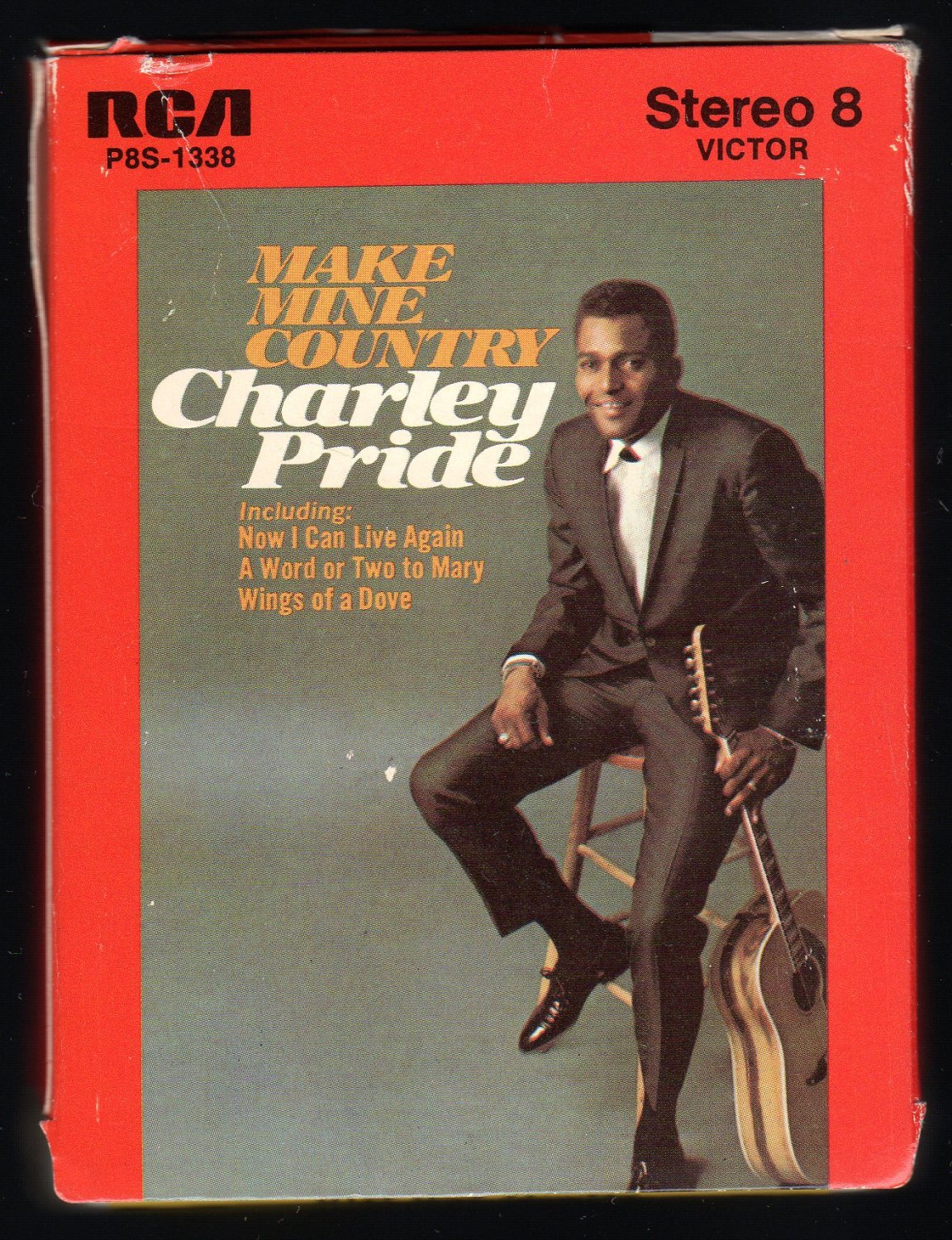 Charley Pride - Make Mine Country 1968 RCA A23 8-TRACK TAPE