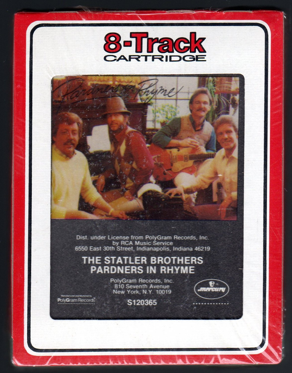 The Statler Brothers - Pardners In Rhyme 1985 RCA Sealed A23 8-TRACK TAPE