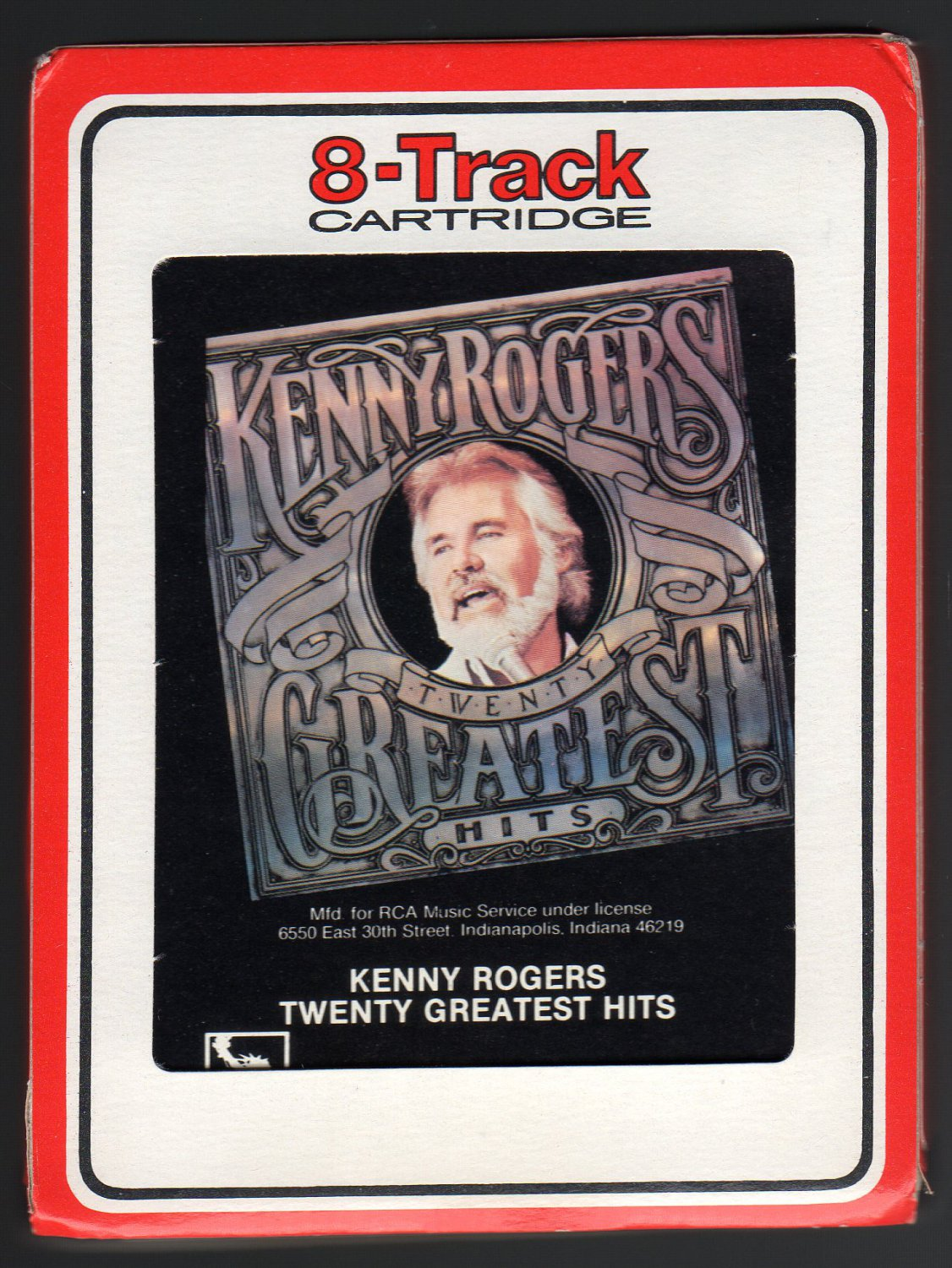 Kenny Rogers - Twenty Greatest Hits 1983 RCA A23 8-TRACK TAPE