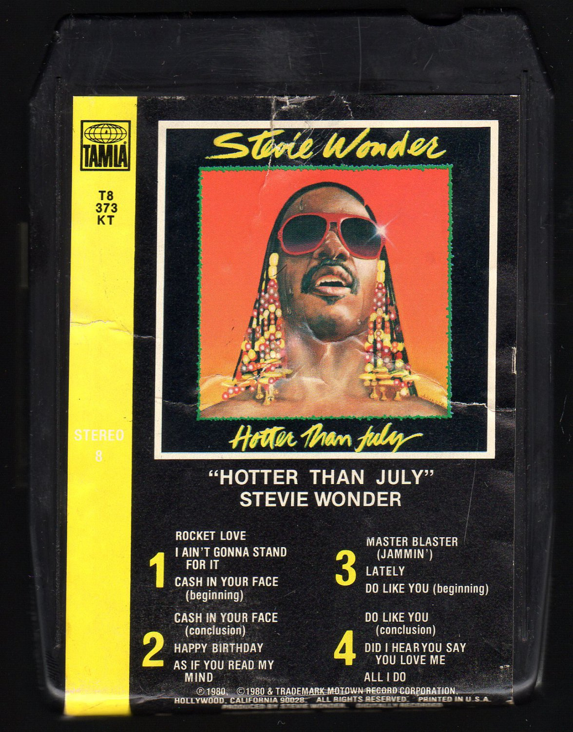 Stevie Wonder - Hotter Than July 1980 TAMLA MOTOWN A23 8-TRACK TAPE