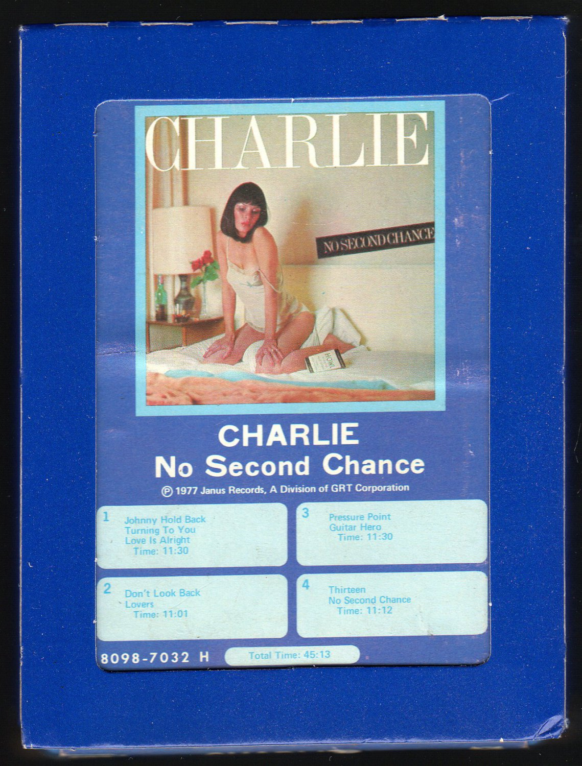 Charlie - No Second Chance 1977 GRT POLYDOR A23 8-TRACK TAPE