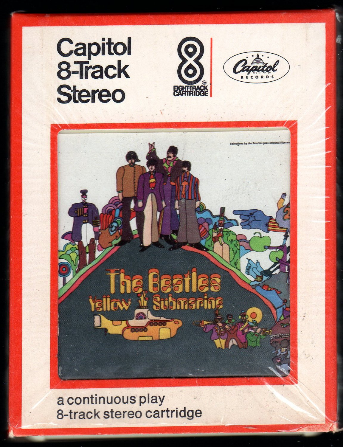 The Beatles - Yellow Submarine 1969 CAPITOL A53 8-TRACK TAPE