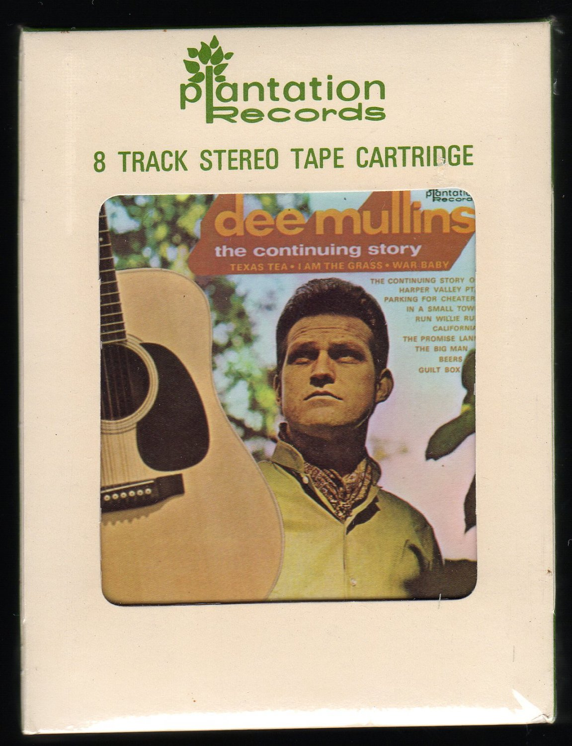 """Dee Mullins - """"The Continuing Story"""" 1969 PLANTATION Sealed A23 8-TRACK TAPE"""