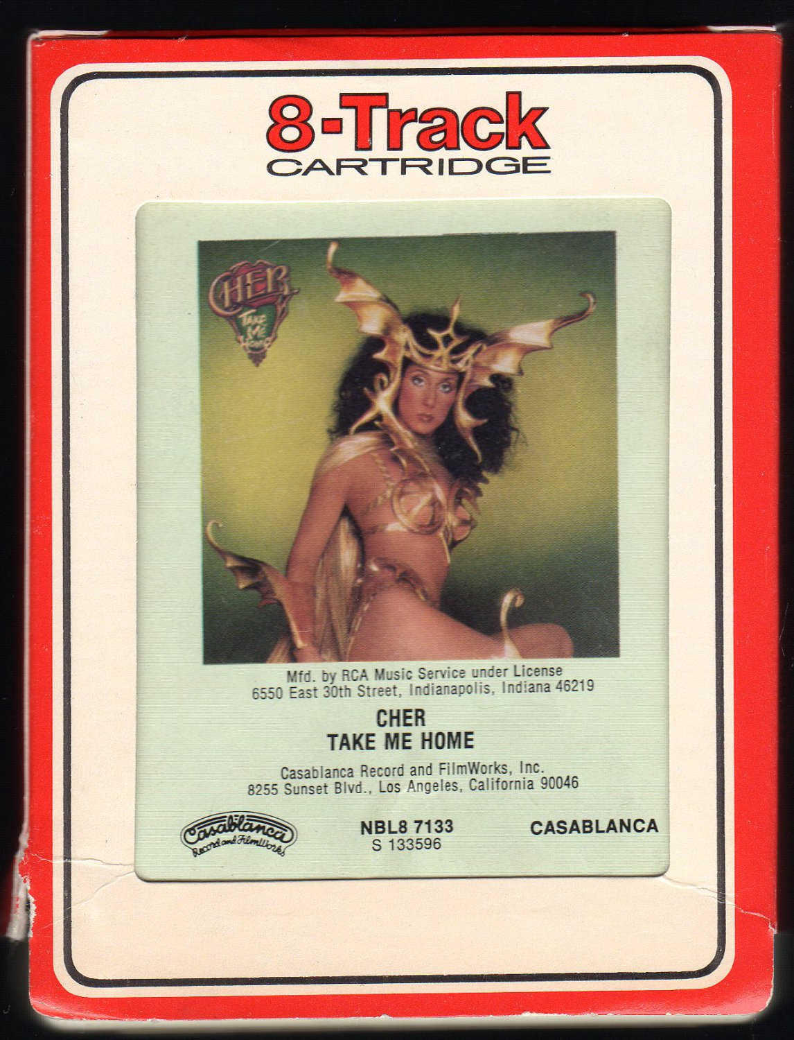 Cher (ilyn) Sarkisian - Take Me Home 1979 RCA CASABLANCA T7 8-TRACK TAPE