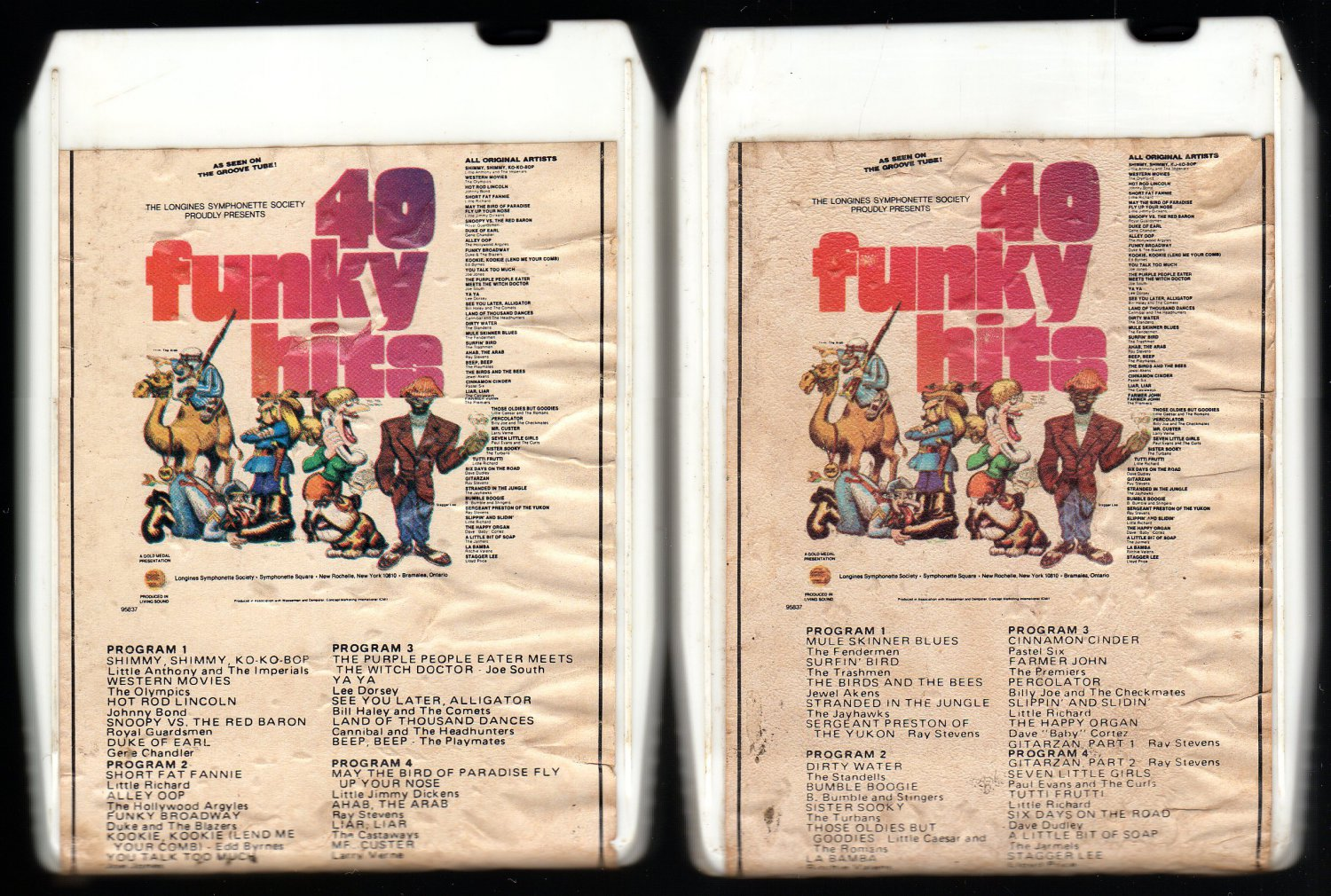 40 Funky Hits - Various Funky Pop Hits Part A & B 1974 LONGINES A28 8-TRACK TAPES