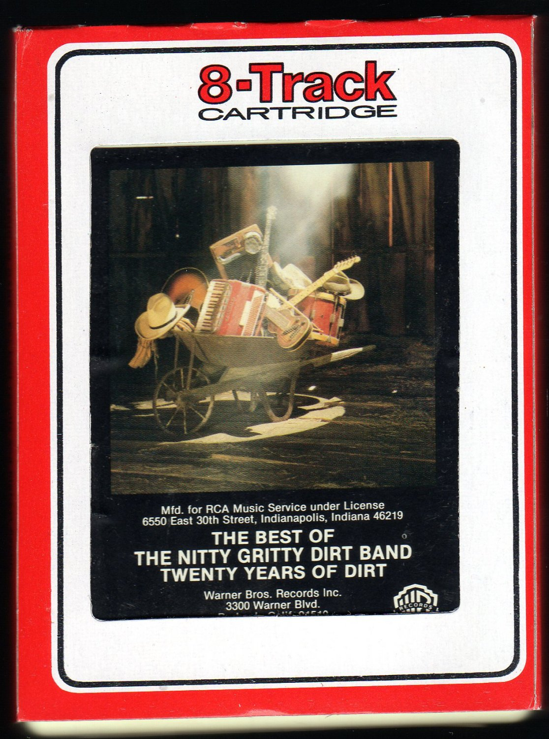 The Nitty Gritty Dirt Band - The Best Of Twenty Years Of Dirt 1986 RCA WB A29A 8-TRACK TAPE