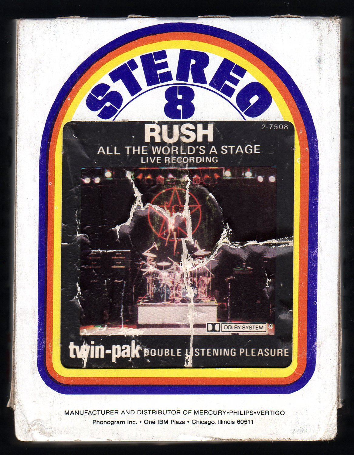 Rush - All The World's a Stage 1976 MERCURY AC5 8-TRACK TAPE