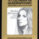 Barbra Streisand - Live Concert At The Forum 1972 CBS Quadraphonic A18E 8-TRACK TAPE