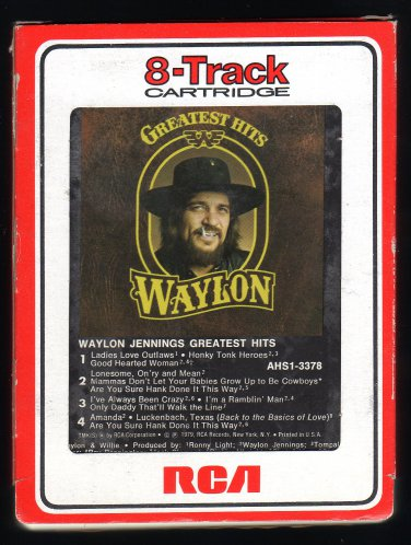 Waylon Jennings - Greatest Hits 1979 RCA A21C 8-TRACK TAPE