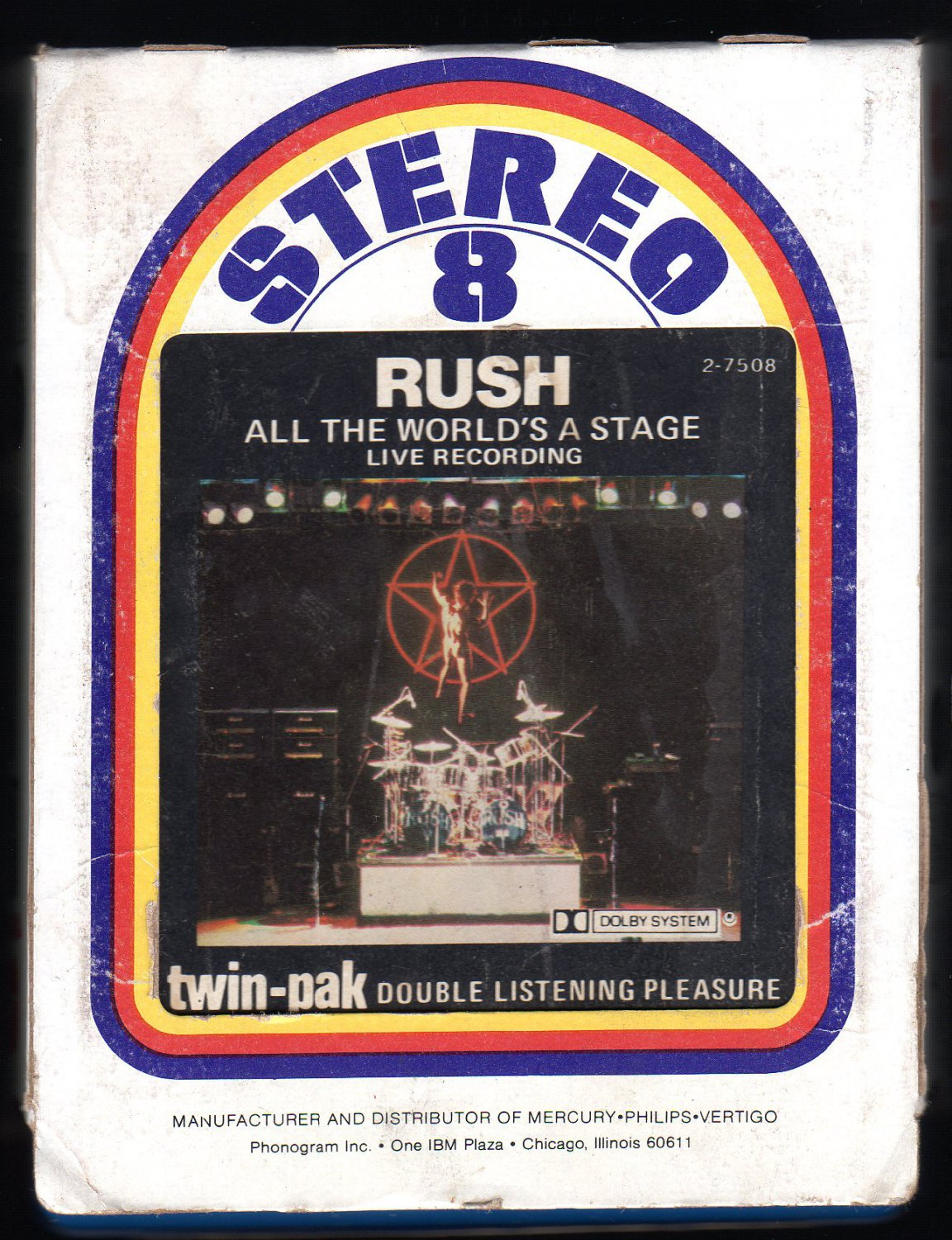 Rush - All The World's a Stage 1976 MERCURY A32 8-TRACK TAPE