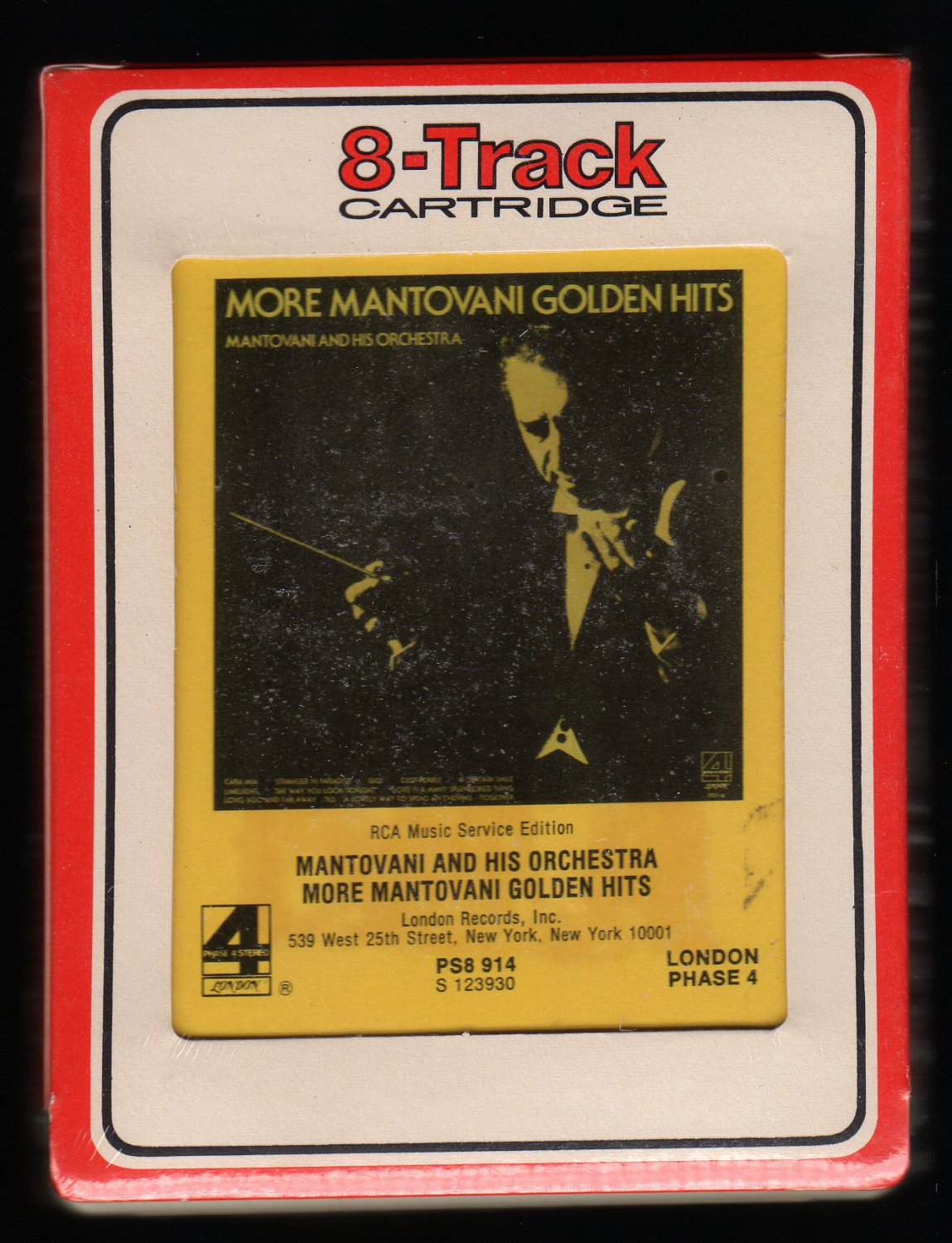 Mantovani And His Orchestra - More Golden Hits 1976 RCA Sealed A32 8-TRACK TAPE