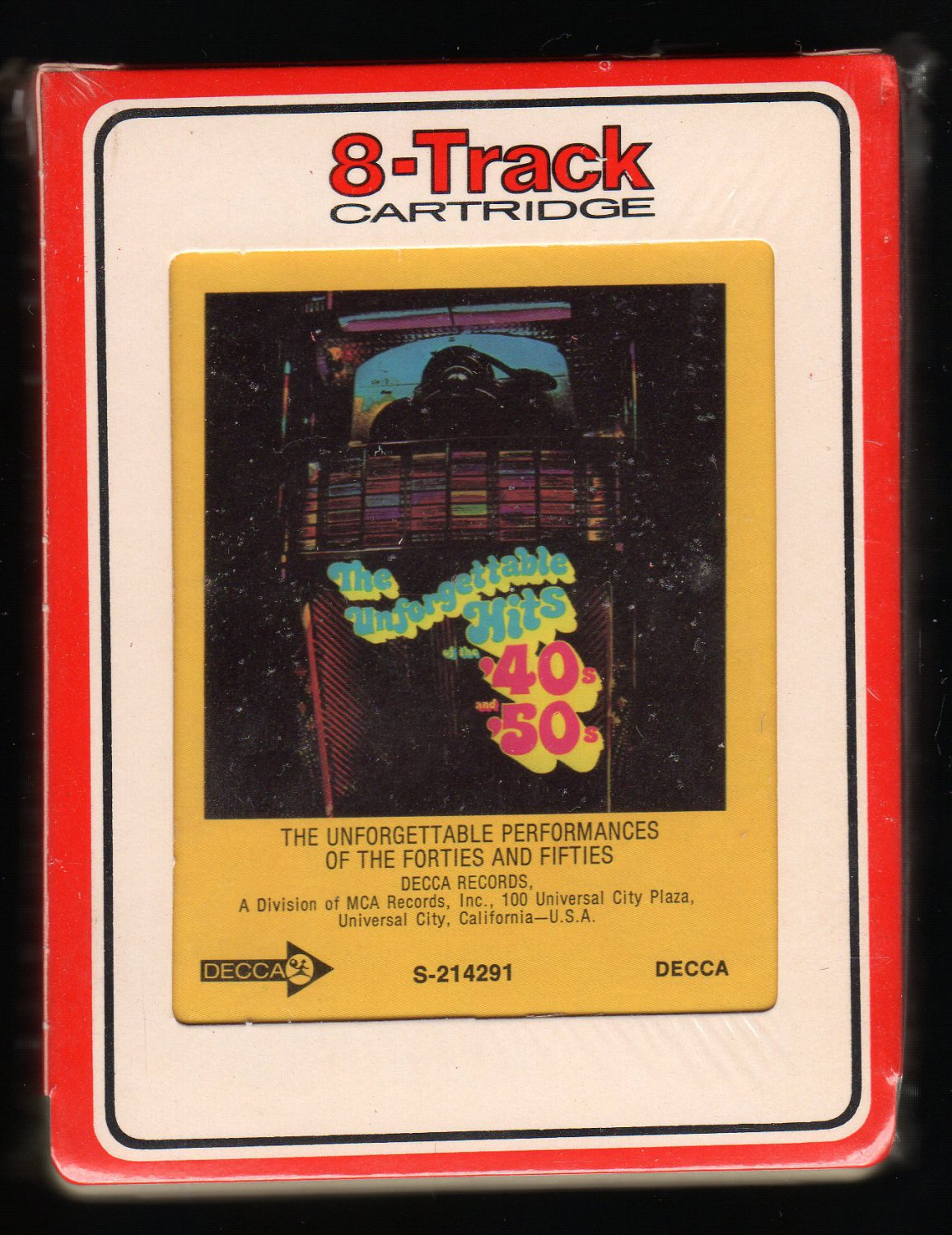 The Unforgettable Performances Of The Forties and Fifties - Various Artists Sealed A32 8-TRACK TAPE