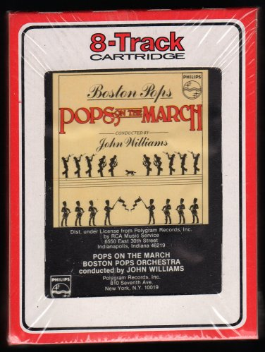 Boston Pops Orchestra John Williams - Pops On The March 1980 RCA Sealed A32 8-TRACK TAPE