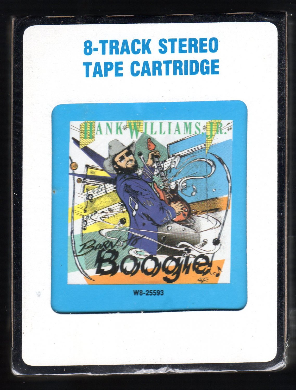 Hank Williams Jr - Born To Boogie 1987 CRC Sealed A25 8-TRACK TAPE
