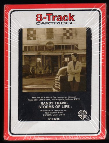 Randy Travis - Storms Of Life 1986 Debut RCA Sealed A13 8-TRACK TAPE