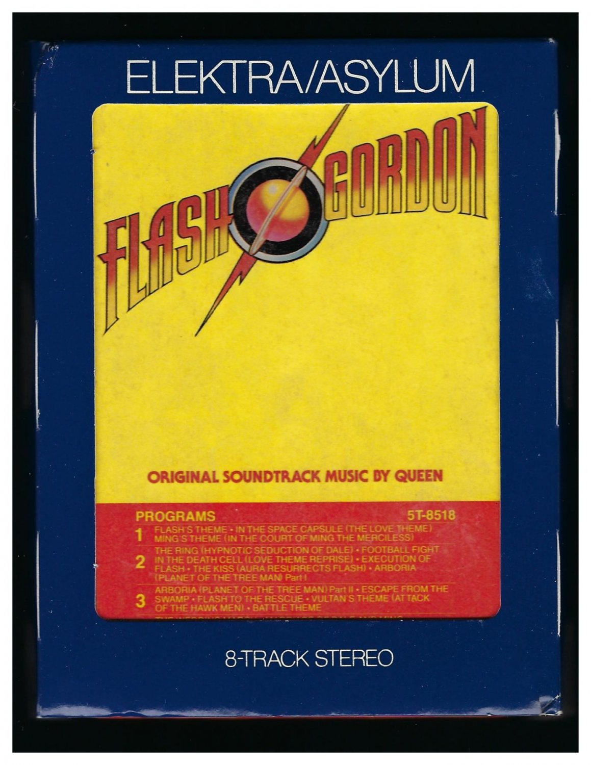 Queen - Flash Gordon Original Music Soundtrack 1980 ELEKTRA A21B 8-TRACK TAPE