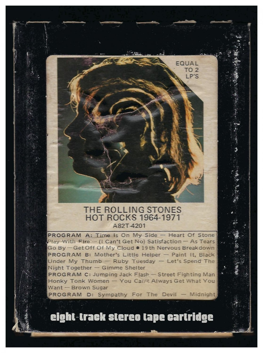 The Rolling Stones - Hot Rocks 1964-1971 1971 ABKCO A21B 8-TRACK TAPE