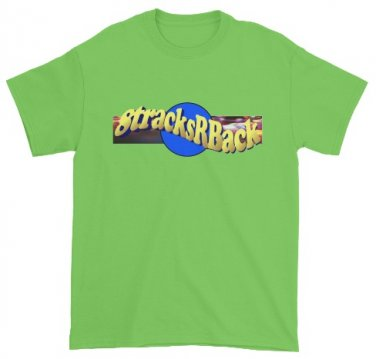 8tracksRBack LARGE LIME Logo T-Shirt
