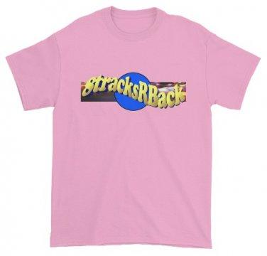 8tracksRBack LARGE LIGHT PINK Logo T-Shirt