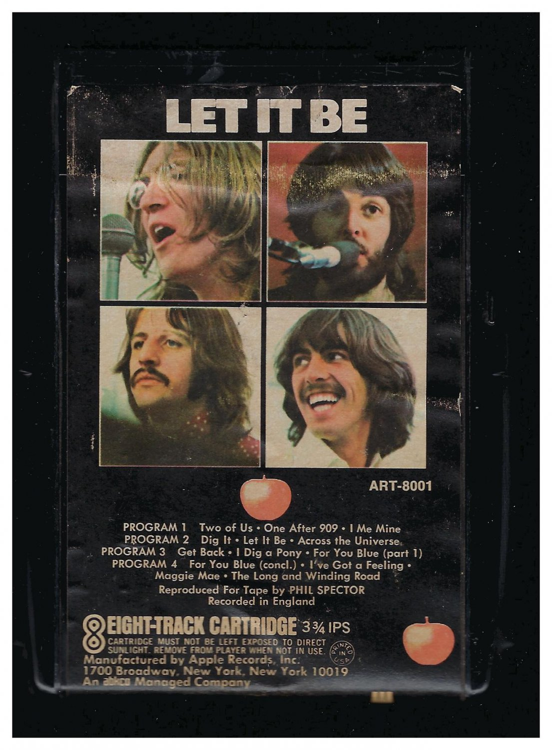 The Beatles - Let It Be 1970 APPLE A23 8-TRACK TAPE