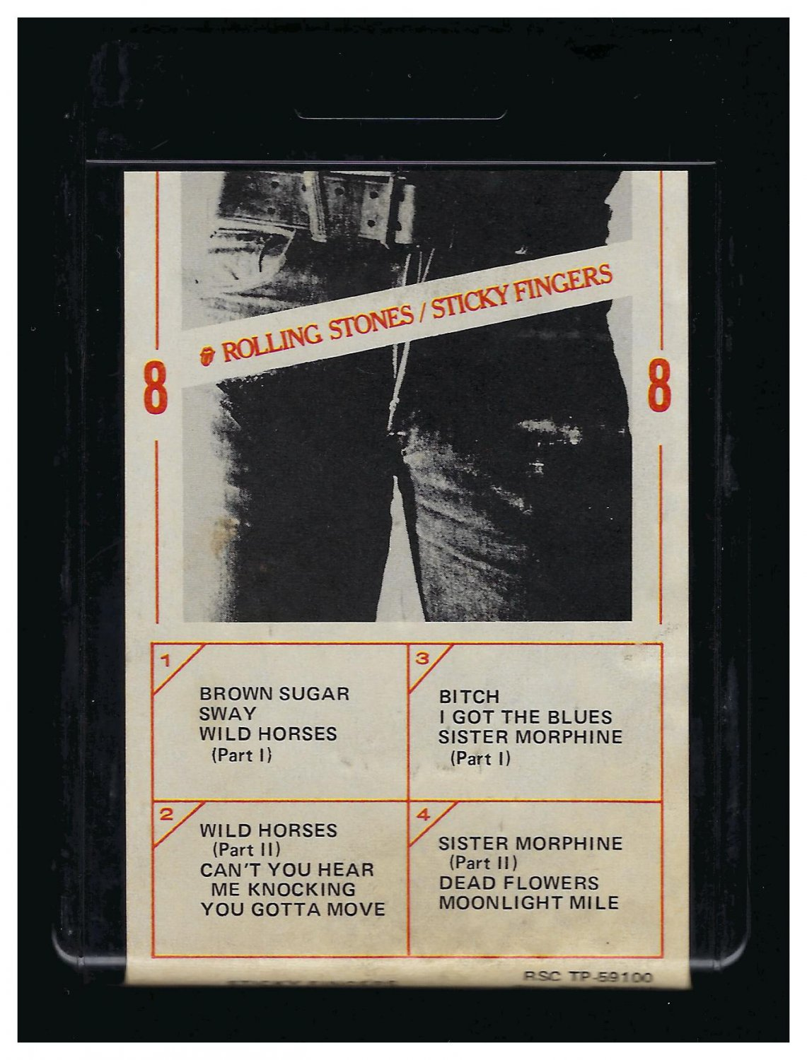 The Rolling Stones - Sticky Fingers 1971 ATLANTIC T4 8-TRACK TAPE