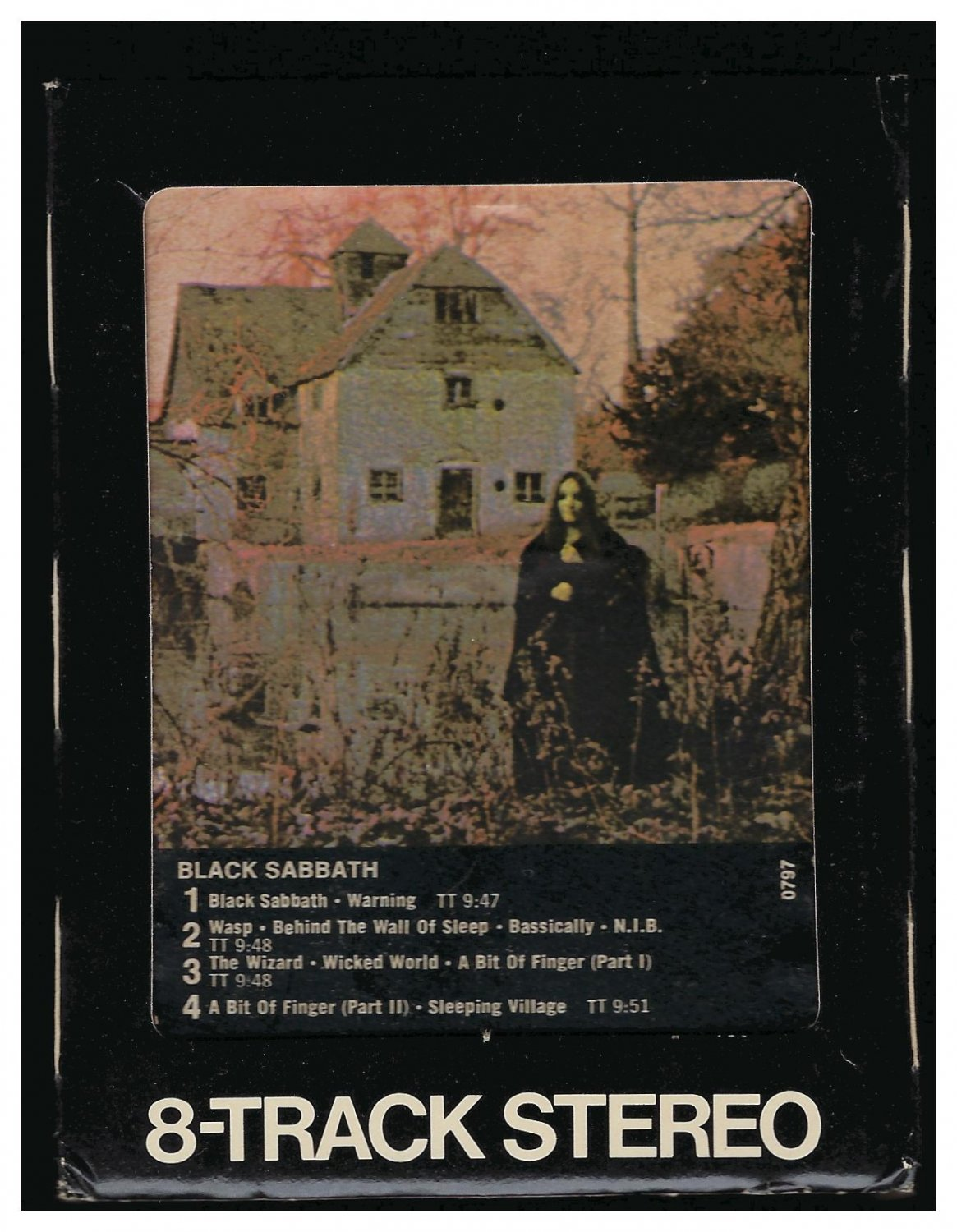 Black Sabbath - Black Sabbath 1970 Debut WB A43 8-TRACK TAPE
