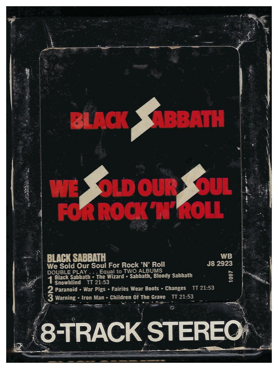 Black Sabbath - We Sold Our Soul For Rock N' Roll 1976 WB A44 8-TRACK TAPE