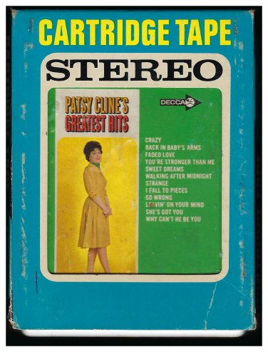 Patsy Cline - Patsy Cline's Greatest Hits 1967 DECCA A19A 8-TRACK TAPE