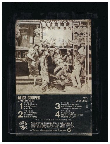 Alice Cooper - Greatest Hits 1974 WB A18F 8-TRACK TAPE