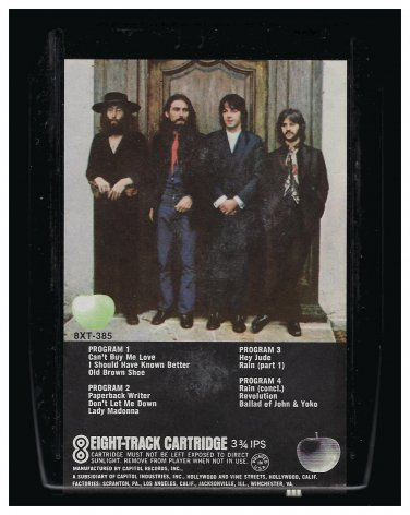 The Beatles - Hey Jude 1970 APPLE A12 8-TRACK TAPE