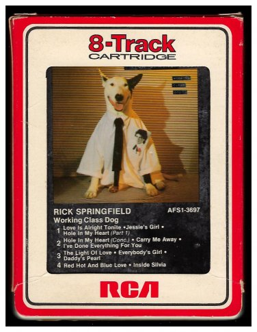Rick Springfield - Working Class Dog 1981 RCA A23 8-TRACK TAPE