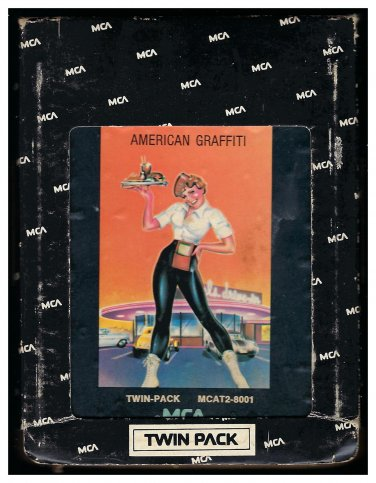 American Graffiti - 41 Original Hits Soundtrack Of American Graffiti 1973 MCA T7 8-TRACK TAPE