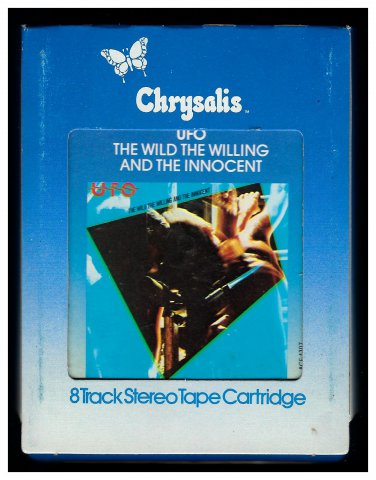 UFO - The Wild, The Willing and The Innocent 1981 CHRYSALIS C/O A18D 8-TRACK TAPE