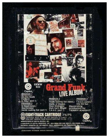 Grand Funk Railroad - Grand Funk Live Album 1970 CAPITOL A18B 8-TRACK TAPE