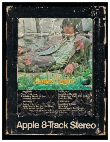 James Taylor - James Taylor 1968 Debut APPLE AC3 8-TRACK TAPE