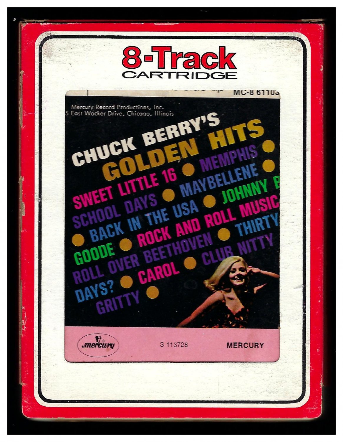 Chuck Berry - Golden Hits 1966 RCA MERCURY Reissue A33 8-TRACK TAPE
