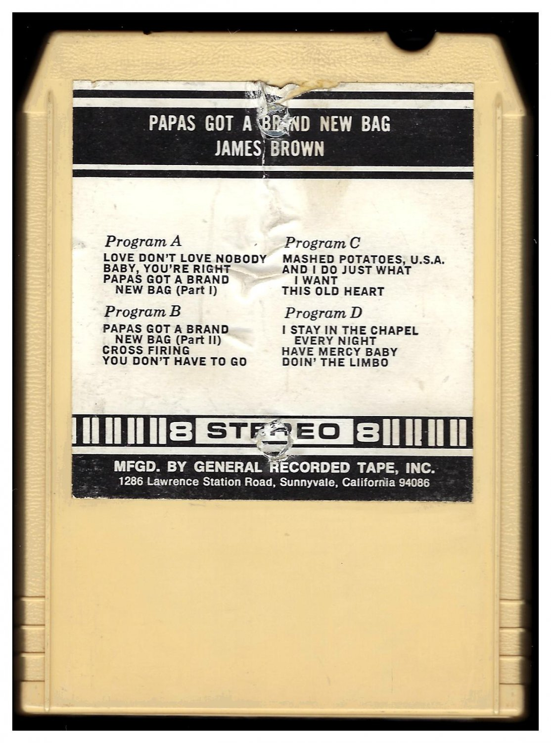 James Brown - Papa's Got A Brand New Bag 1965 GRT KING T2 8-TRACK TAPE