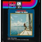 Carpenters - Ticket To Ride 1969 Debut A&M A41 8-TRACK TAPE