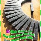30 Center Cut Slick Flex-Thin Clear Top CHARCOAL GRAY Foam Pads 8-TRACK TAPE