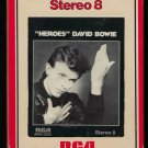 David Bowie - Heroes 1977 RCA T9 8-TRACK TAPE