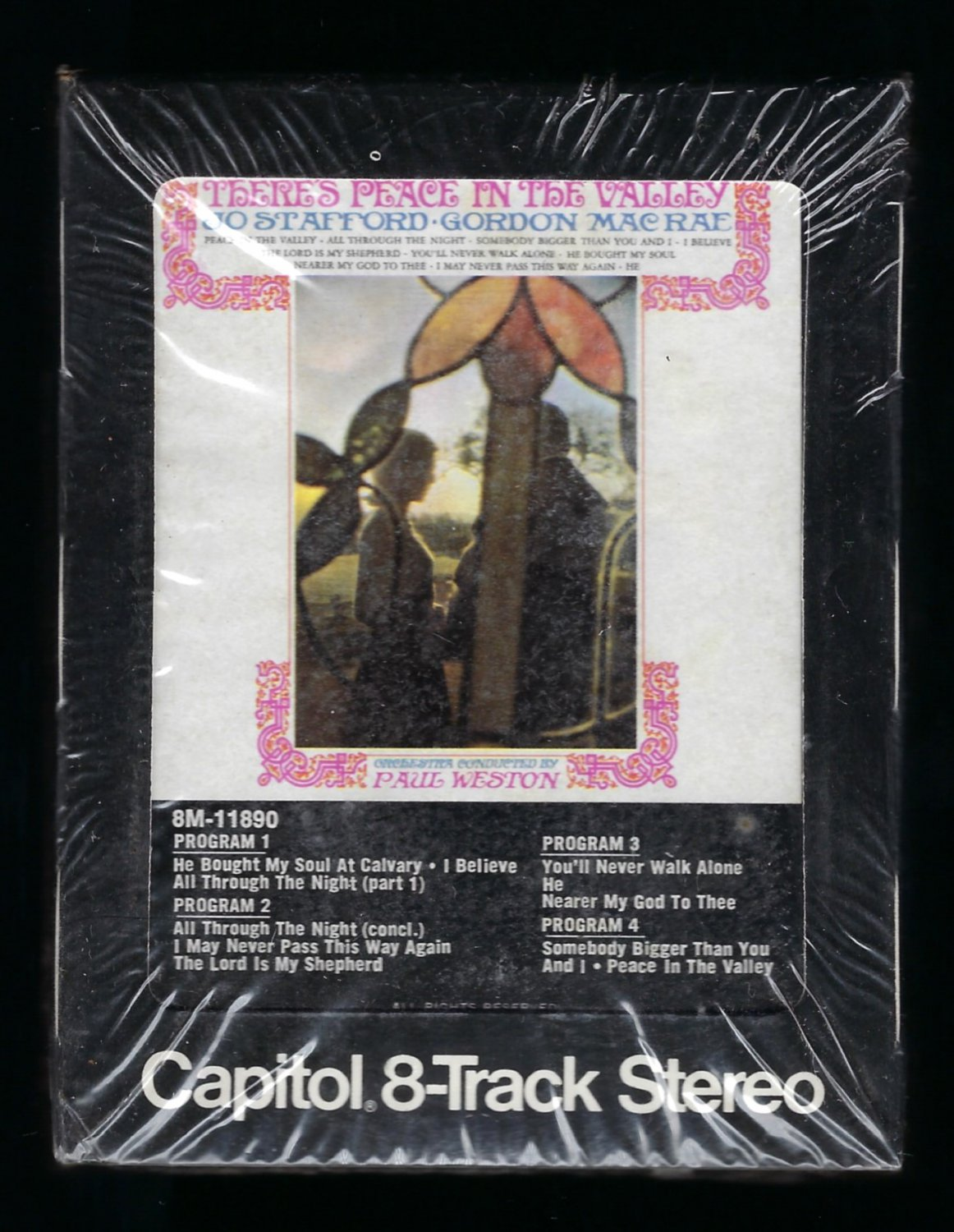 Jo Stafford and Gordon MacRae - Peace In The Valley 1963 CAPITOL Re-issue Sealed T12 8-TRACK TAPE