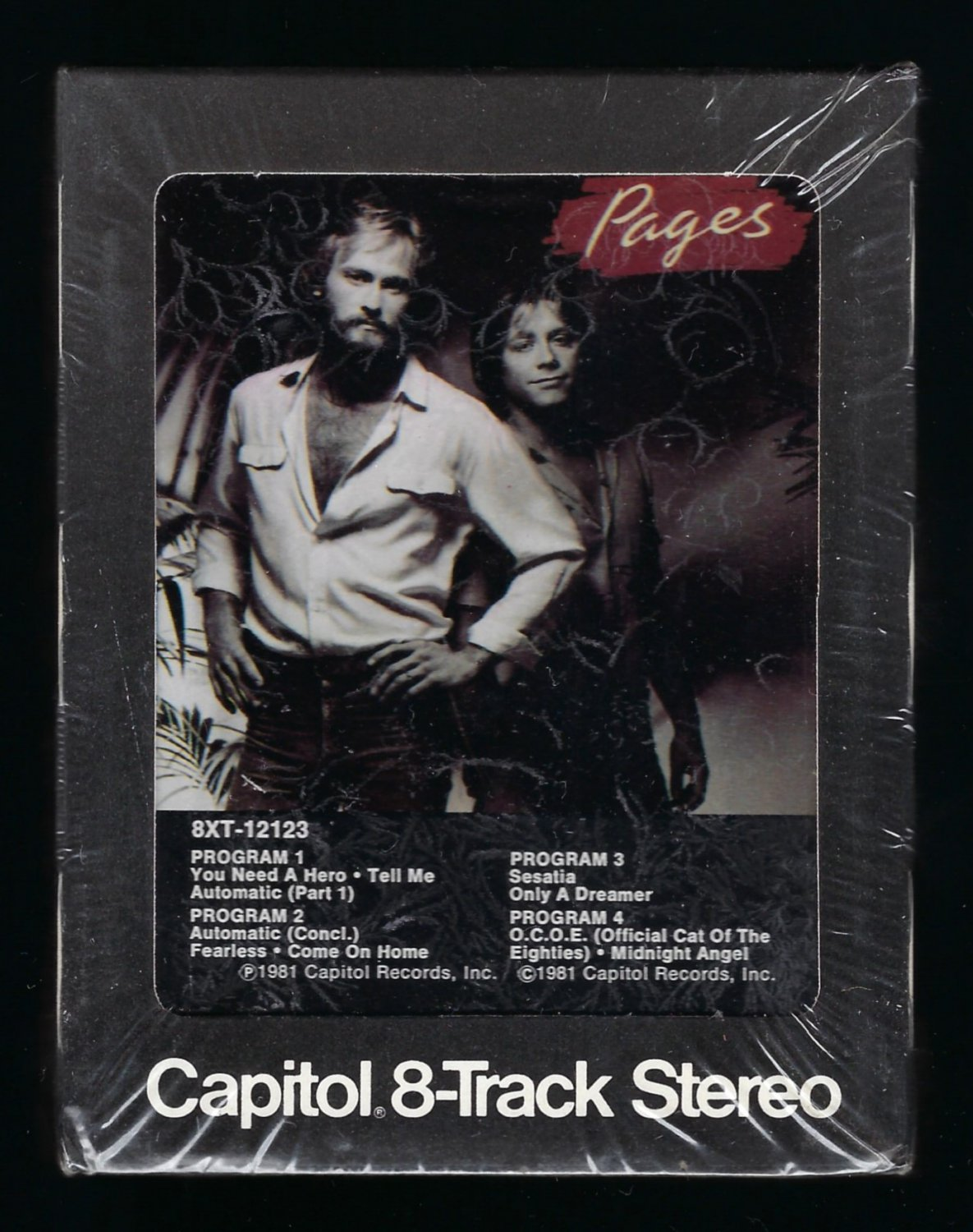 Pages - Pages 1981 CAPITOL Sealed T12 8-TRACK TAPE