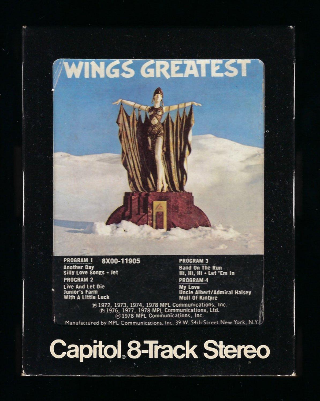 Paul McCartney & Wings - Wings Greatest 1978 CAPITOL T10 8-TRACK TAPE