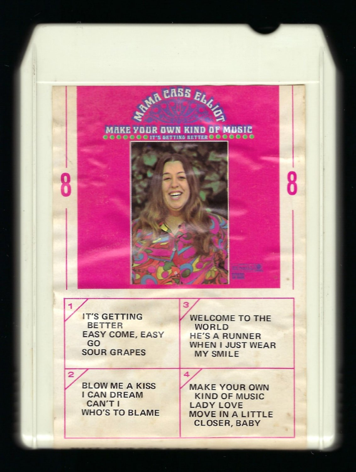 Mama Cass Elliot - Make Your Own Kind Of Music 1969 LEAR AMPEX DUNHILL T10 8-TRACK TAPE