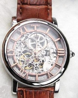 Fiber - Carved Rose Gold Roman Automatic (FB8002-02-32S)