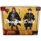 "Pirates of the Caribbean At World's End Pirate Attack 12"" Jack Sparrow & Elizabeth Swann figures"