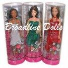 2006 Fashion Fever Holiday Barbie set of 3 Sparkle and Shine dolls with Kayla Teresa Barbie