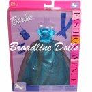 2002 Barbie Fashion Avenue Dress outfit Blue Gown