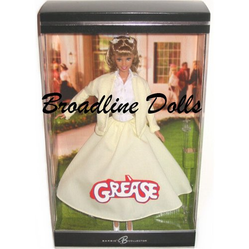 "2004 Barbie Grease doll as Sandy Olsson in ""Tell Me More"" yellow dress NRFB"